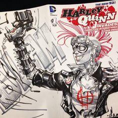 Mad Max Harley Quinn by Carlos D'Anda *