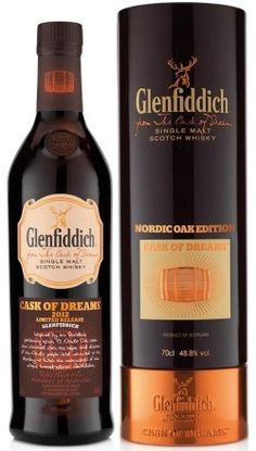 Glenfiddich Cask of Dreams Nordic Oak Single Malt Scotch Whisky, Scotland Más Whiskey Or Whisky, Whiskey Brands, Good Whiskey, Single Malt Whisky, Scotch Whiskey, Bourbon, Vodka, Tequila, Strong Drinks