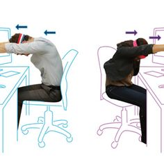 Neck and shoulder pain are common in sedentary jobs. Get loosened up with these twelve exercises to do at your desk and work out the kinks.