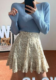Falling In Spring Frill Skirt - Fashion -You can find Skirt outfits and more on our website.Falling In Spring Frill Skirt - Fashion - Hipster Outfits, Girly Outfits, Cute Casual Outfits, Pretty Outfits, Vintage Outfits, Summer Outfits, Hipster Clothing, Anime Outfits, Rock Outfits