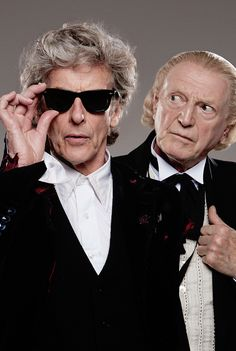 Doctor Who Twelve and David Bradley as the First Doctor