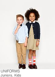 Shopping for clothes for children isn't always easy, but Amazon.com's organized categories make kids' clothes shopping a breeze. We have everything from cute girls' dresses to rough-and-tumble boys' clothes, for every age and size, and by the best brands. We have kids' clothing for schools with uniforms, or sporty kids' clothing for your little athlete.