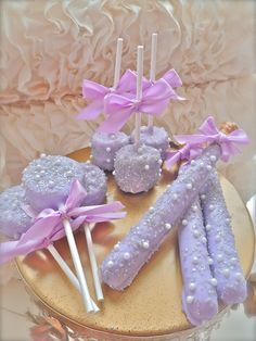 Edible Wedding Favors Purple and Silver Complete by FrosttheCake on Etsy