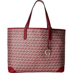 GUESS G Cube G-Tote (Crimson) Tote Handbags (3.510 RUB) ❤ liked on Polyvore featuring bags, handbags, tote bags, red, vegan tote bags, red tote bag, purse tote, handbag tote and guess tote