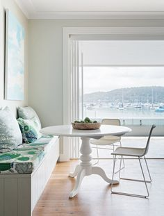 A waterfront sanctuary Welcome to this Sydney family's Hamptons-style beachfront retreat. The owners wanted a classic, timeless feel with a little bit of Europe and a little bit of the Hamptons ~ Piet Coastal Bedrooms, Coastal Living Rooms, Coastal Cottage, Coastal Style, Coastal Decor, Coastal Lighting, Modern Coastal, Cottage Bedrooms, Coastal Colors