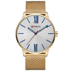 Men's Luxury Brand Quartz Casual Business Watch With Stainless Steel Mesh Band Simple Watches, Elegant Watches, Casual Watches, Vintage Watches For Men, Luxury Watches For Men, Modern Country, Mens Luxury Brands, Spring Decoration, Decor Inspiration