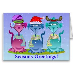 Cat Trio Greeting Card