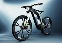 """Audi has announced that it will debut a new performance e-bike prototype. Described as a high-end pedelec for sport, fun and tricks. The prototype offers five travel modes, ranging from pedal-power to electric-only, and inclusive of two """"Wheelie"""" modes where the power is automatically controlled to assist the rider while the front wheel grabs some air."""