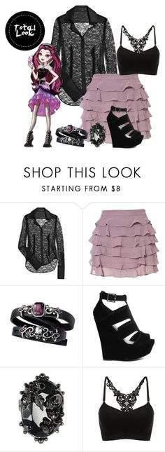"""Raven Queen Casual Style"" by sayashadowhunter ❤ liked on Polyvore featuring Alexander Wang, Topshop, Truffle and Mawi"