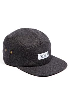 Just Hype Charcoal Wool 5-Panel Hat