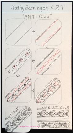 How to draw ANTIQUE « TanglePatterns.com