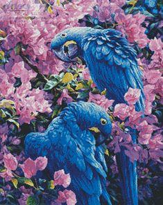 Artecy Cross Stitch. Hyacinth Macaws Cross Stitch Pattern to print online.