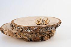 Laser Cut Deer Head Earrings Wood Stud by SimplistiCreations