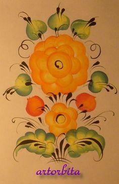 Рисунок. Композиция простая - урало-сибирская роспись