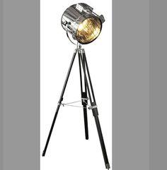 Standing Tripod Hollywood Industrial Floor Studio Lamp