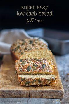 Super easy low-carb bread {Dukan Bread} | Supergolden Bakes