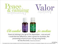 Young Living Essential Oils: Peace & Calming for Depression, Valor for Anxiety