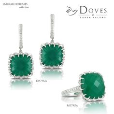 #EmeraldDreams: a pretty pop of emerald green color, only from Doves @lylehusardesigns | Brookfield WI #lylehusardesigns
