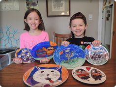 Fun Kids Craft: DIY Sharpie Plates