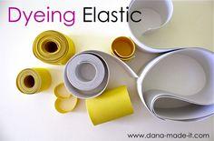 How to dye elastic...I'm thinking Herve Leger!