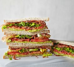 Swap butter for smooth avocado and bacon for crispy prosciutto in our skinny, low-calorie BLT. This is the ideal easy yet indulgent lunchtime treat Pork Recipes, Cooking Recipes, Work Lunch Box, Meals Under 500 Calories, Healthy Snacks, Healthy Recipes, Whats For Lunch, Savoury Baking, Bbc Good Food Recipes