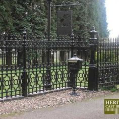 Buy Dumfries Pillar driveway gate post with root fixing, Dumfries Range of Gates and Railings - Dumfries Pillar driveway gate post with root fixing Cast Iron Railings, Cast Iron Fence, Gates And Railings, Metal Railings, Driveway Security Gates, Driveway Gate, Victorian Fencing And Gates, Victorian Irons, Gate Post