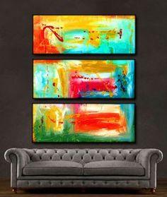 "'Beautiful spring ' - 36"" X 30"" Original Abstract Art Painting."