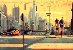 Romantic art by Pascal Campion Art . Pascal Campion, Landscape Concept, Love Illustration, Cool Sketches, Art For Art Sake, Art Model, American Artists, Artist At Work, Amazing Art