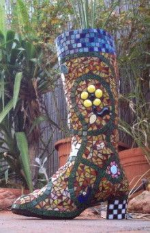 Learn How To Make a Stunning Mosaic Boot | Step by Step Instructions – The Mosaic Store