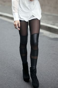 Yes they're leggings, but the way they look makes them kinda fit in this category... :)
