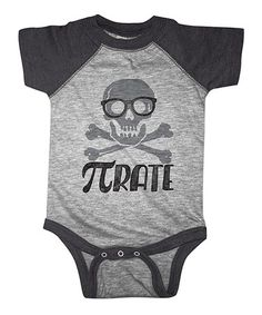 Look what I found on #zulily! Heather Smoke 'Pirate' Bodysuit - Infant #zulilyfinds