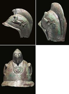 A Roman Tinned Copper Cavalry Parade Helmet, the Crest Terminating in a Beaked Griffin's Head |  late 2nd cent.AD