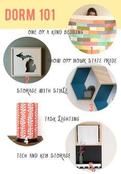 Dorm Decor 101    Style your Space