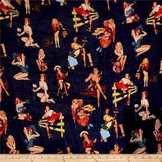 Telio Blossom Chiffon Pin Up Print Navy Fabric By The Yard Sheer Chiffon, Chiffon Fabric, Shades Of Beige, Navy Fabric, Fabric Shower Curtains, Fabric Online, Pin Up Girls, Fabric Design, Print Patterns