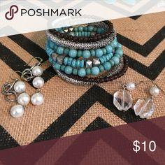 Bracelet and two pair of earrings Cute, cute!! Jewelry