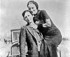 May 23rd 1934: Bonnie and Clyde killed  On this day in 1934 the infamous American bank robbing duo Bonnie Parker and Clyde Barrow were ambushed by police and killed in Louisiana. Bonnie and Clyde and their gang were outlaws who robbed banks and killed several police officers and civilians from 1931 to 1934.