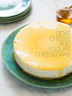Goat Cheese and #Yogurt Cheesecake