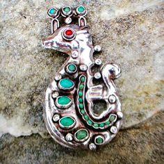 Vintage Matl Matilde Poulat Silver sea horse pin #matl #matildepoulat #taxco #gotvintage