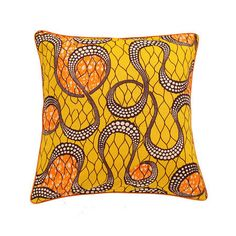African Print Pillow Cover