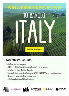 Win a Dream Trip to ITALY  Sweepstakes