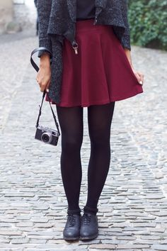 I need a red skater skirt to wear with my new heart sweater. also good to wear with tights and boots in the winter
