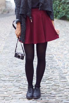 cranberry skirt
