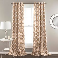 Edward Room Darkening Curtain Panels - Set of 2 - TAUPE BROWN