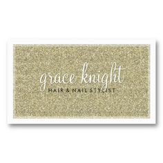 BUSINESS CARD modern simple glitter gold