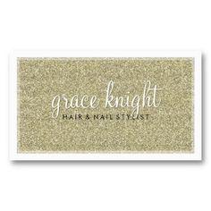 BUSINESS CARD modern simple glitter gold
