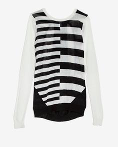 Shae EXCLUSIVE Split Stripe Sweater