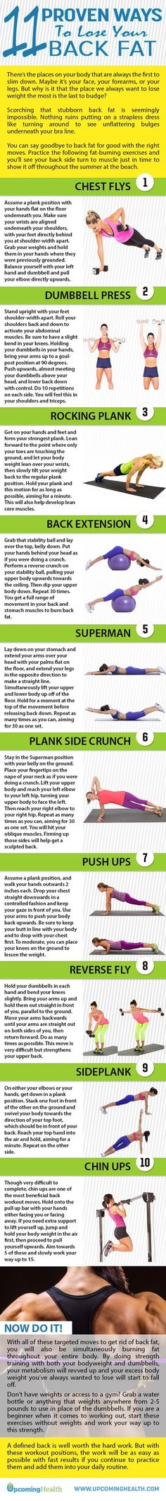 If you have tried to lose back fat then you know how much of a pain it can be. Doing these simple exercises will help you shed off some of that unwanted flab with ease. All of these exercises can be done from the comfort of your own home. All it takes to achieve a tone back is consistent training coupled with a healthy diet. An easy first step to a healthy diet is cutting out soda!