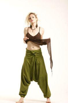 COULEURS assorties unisexe pantalon de pêcheurs par GekkoBoHotique