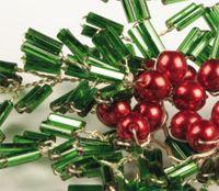 #Czech Bugle Beads  – #Christmas Twig Decoration free beading tutorial (PDF): http://czechbeadsexclusive.com/new-arrivals-of-czech-bugle-beads-and-free-tutorials/