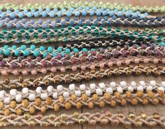 Create Your Own - Tie On - Double Beaded Boho Anklets - Choose Hemp & Bead Color